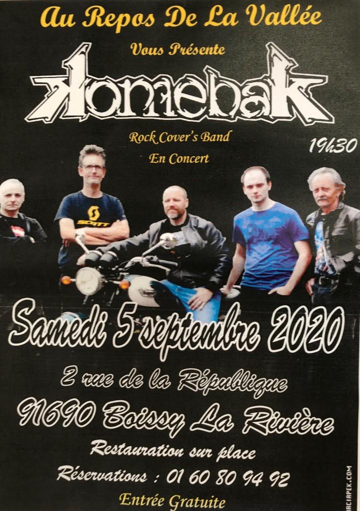 Concert – 5 Septembre – Boissy la Rivière